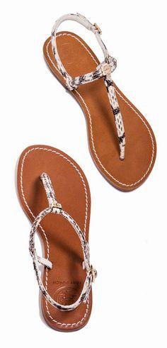 b7aef53603c87 Tory Burch watersnake Alfie Sandal Flat Sandals