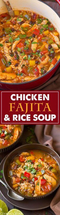 Get the recipe ♥ Chicken Fajita and Rice Soup @recipes_to_go