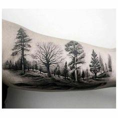 Tatouage forêt bras