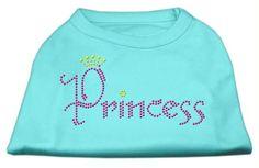 Princess Rhinestone Shirts Aqua L (14)