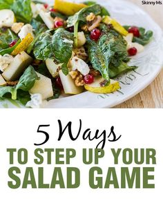 Healthy Food Shouldn't Be Plain And Boring. Thinking about How To Make A Better Salad? Look at These 5 Ways To Add Interesting And Complex Flavors. Healthy Salads, Healthy Eating, Healthy Recipes, Fruit Salads, Healthy Lunches, Healthy Tips, Healthy Foods, Clean Eating Dinner, Clean Eating Recipes