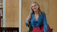 #Miranda wears: #RubyYaya blue shibori dot dyed long sleeve cotton dress.