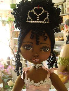 Bonecas de pano negras. Bailarina. Soraia Flores.