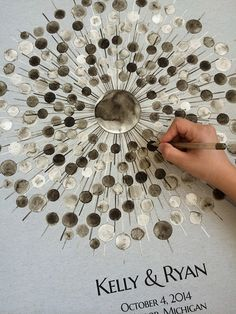 Hey, I found this really awesome Etsy listing at https://www.etsy.com/listing/196914904/custom-wedding-guestbook-ball-ray-mid