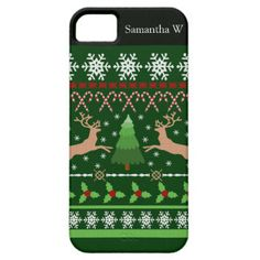Funny Ugly Christmas Sweater iPhone SE/5/5s Case