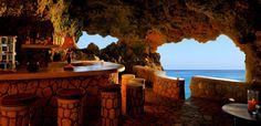 The rock bar at The Caves Hotel - Jamaican luxury and a Tablet Hotel