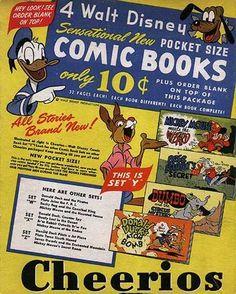 Cheerios cereal (back of the box) Donald Duck, Pluto, Br'er Rabbit comic book offer c. Breakfast Cereal, Breakfast Time, Cheerios Cereal, Great Memories, Vintage Ephemera, All Brands, 2 Boys, Girls, Boy Or Girl