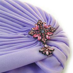 Women's Wrap Hat Boho Gypsy Lavender Hat Hat Turban by curtainroad