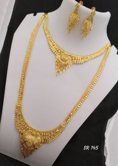 jewelry available at Arshi's. for bookings whatsapp on worldwide shipping 1 Gram Gold Jewellery, Gold Jewelry, Gold Necklace, Bengali Bridal Makeup, Gold Haram, Indian Jewelry Sets, Bridal Bangles, Chain Jewelry, Traditional Wedding