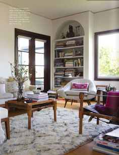 Love this Beni Ourain rug!  A large collection of Beni Ourain rugs for sale in my online bazaar www.beyondmarrakech.com