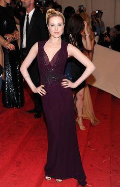 Evan Rachel Wood at the 2011 MET Gala in Gucci