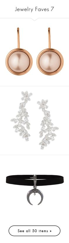 """""""Jewelry Faves 7"""" by juliasmiles ❤ liked on Polyvore featuring jewelry, earrings, accessories, french hook earrings, faux pearl jewelry, rose gold earrings, red gold jewelry, pink gold jewelry, silver and kate spade jewelry"""