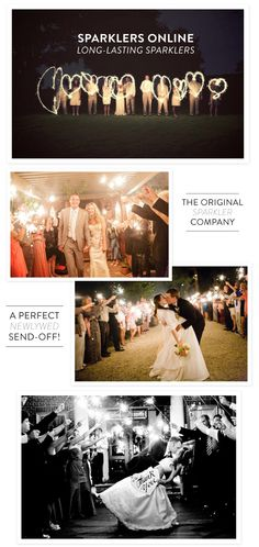 If you ask me, there's simply no sweeter, or more memorable, way to make your first official exit as Mr. + Mrs. than with a sparkler send off. After a day filled to the brim with personal touches and gorgeous details, this special farewell is icing on the wedding-planning cake and the perfect way for…