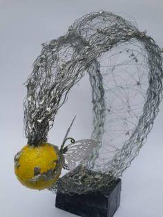 "Saatchi Art Artist Maja Taneva; Sculpture, ""Yellow B"" #art"