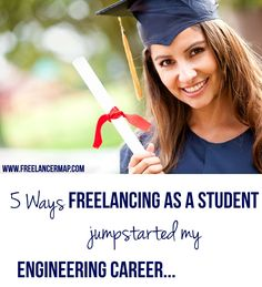 Here are the five ways freelancing as a college student jumpstarted my career in engineering... #freelancing #student #engineering #career #freelancingtips #study #school #tech #webengineer