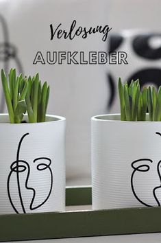 Kleine Dinge, mit großer Wirkung Diy Blog, Indoor Plants, Silhouette Cameo, Planter Pots, German, Mugs, Tableware, Interior, Container Plants