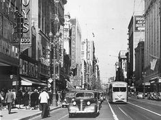 Broadway at 6th 1930s by Metro Transportation Library and Archive, via Flickr