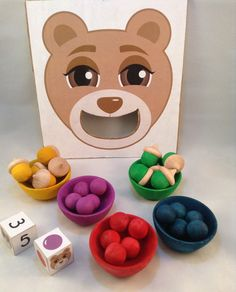 Learning Game Feed the Bear for Toddler by ThePaperCarousel