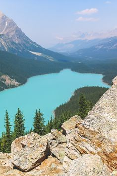 The best view of Peyto Lake in Banff National Park (Alberta, Canada)