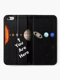 'Solar System Map' iPhone Wallet by Personal Product Designers Solar System Map, Iphone Wallet, Designers, Map Of Solar System