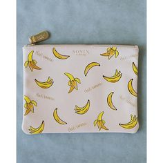 "Another #sonixonholiday sneak peek! Our ""That's Bananas"" print is now a vegan leather travel pouch!"