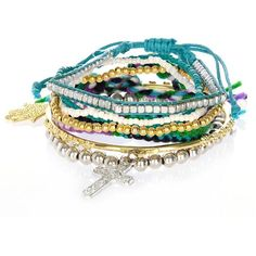 River Island Eclectic friendship bracelet pack ($15) ❤ liked on Polyvore