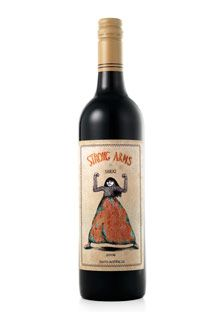 Strong Arms 2006 Shiraz: This Shiraz is a dense, blossomy tooth-purpler from southern Australia's star winemaker Chris Ringland. The whimsical labels are designed by artist Mel Kadel.