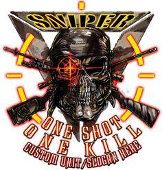 One Shot One Kill Sniper Shirt