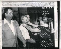 1957 Press Photo NYC Labor Racketeer J Socks Lanza Arrested as Wife Looks On | eBay