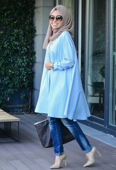 48 Cute Casual Style Ideas Every Girl Should Have - Luxe Fashion New Trends - Fashion for JoJo Hijab Fashion 2016, Muslim Women Fashion, Trend Fashion, Islamic Fashion, Modest Fashion, Fashion Outfits, Fashion Wear, Hijab Casual, Hijab Chic