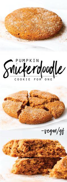 Soft-Baked Pumpkin Snickerdoodle Cookie {vegan & gf}