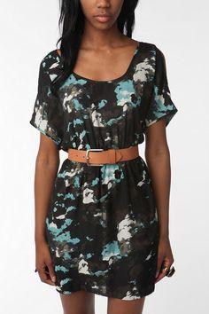 Silence & Noise Open-Shoulder Dress