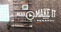 Industrial Pipe Bookshelf - Make It With Menards Diy Industrial Bookshelf, Diy Industrial Interior, Pipe Bookshelf, Industrial Shelving Units, Diy Pipe Shelves, Industrial Interior Design, Industrial House, Industrial Pipe, Diy Iron Pipe