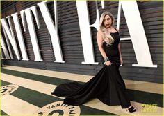 Gaga, Oscars 2015, Vanity Fair Aftershow, black dress