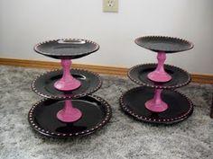 Porta Docinhos e Cupcakes com Pratos e Castiçais!