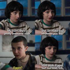 don't tell me eggos aren't real food #strangerthings #mikewheeler #eleven #finnwolfhard #milliebobbybrown -jess