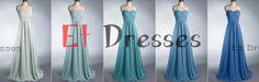 Sweetheart different color chiffon bridesmaid dress ,evening dress ,prom dress