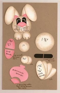 http://craftingwithkitties.blogspot.com/2011/02/punch-art-easter-bunny.html