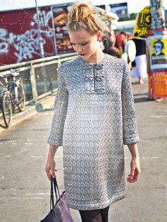 Silver Shirtdress 11/2013 Burdastyle.com
