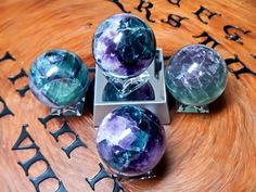 Rainbow Fluorite Sphere ~ 50mm - pagan wiccan witchcraft magick ritual supplies