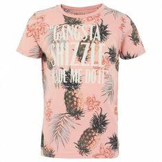 Coral Pineapple Print Tee