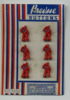 ButtonArtMuseum.com - Realistic  Buttons On Their Original Card