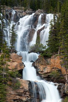 Tangle Fall, Jasper National Park AB. by Gary Kuiken 500px