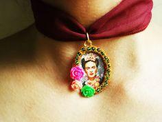 Diseños Mexicanos  Joyeria & Bisuteria  Frida Kahlo por ArteImMrAmA