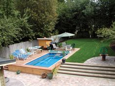 Turn even the smallest backyard into an oasis with an Endless Pool. Small Backyard Pools available of all sizes available.