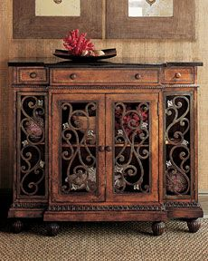 Nice size entry table with a Tuscan flair. Tuscan decorating ideas.