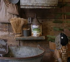 Sweet Liberty Homestead primitive shelf and hand broom. We hope you'll visit us at http://www.picturetrail.com/sweetliberty