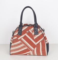Poverty Flats striped canvas patchwork bowler