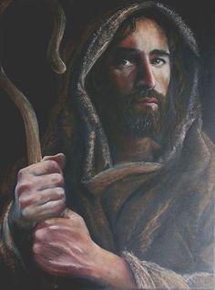 """The Lord, My Shepherd"" by Randy Friemel Prismacolor Pencil ~ 24 x 18"