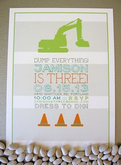 Construction Birthday Invitation by SpillingBeans